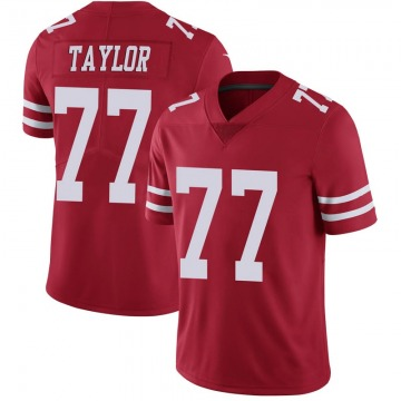 Youth Nike San Francisco 49ers Jullian Taylor Red Team Color Vapor Untouchable Jersey - Limited
