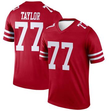 Youth Nike San Francisco 49ers Jullian Taylor Scarlet Jersey - Legend