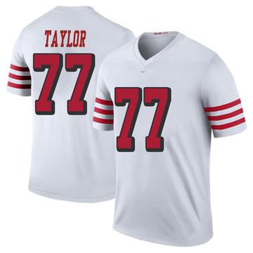 Youth Nike San Francisco 49ers Jullian Taylor White Color Rush Jersey - Legend