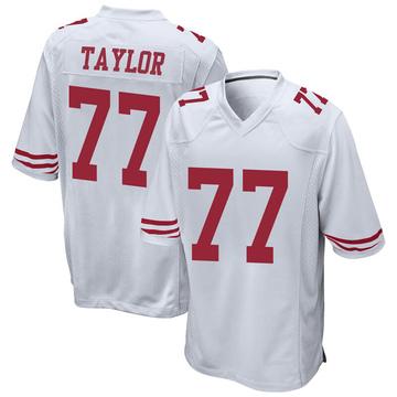 Youth Nike San Francisco 49ers Jullian Taylor White Jersey - Game