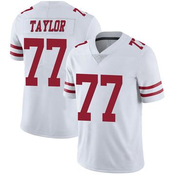 Youth Nike San Francisco 49ers Jullian Taylor White Vapor Untouchable Jersey - Limited