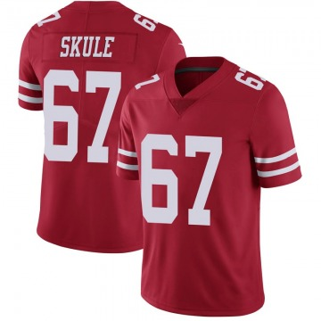 Youth Nike San Francisco 49ers Justin Skule Scarlet 100th Vapor Jersey - Limited