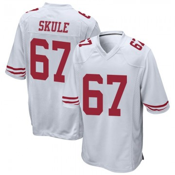 Youth Nike San Francisco 49ers Justin Skule White Jersey - Game