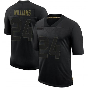 Youth Nike San Francisco 49ers K'Waun Williams Black 2020 Salute To Service Jersey - Limited