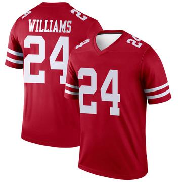 Youth Nike San Francisco 49ers K'Waun Williams Scarlet Jersey - Legend