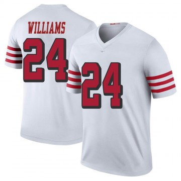 Youth Nike San Francisco 49ers K'Waun Williams White Color Rush Jersey - Legend
