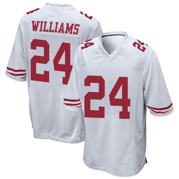 Youth Nike San Francisco 49ers K'Waun Williams White Jersey - Game