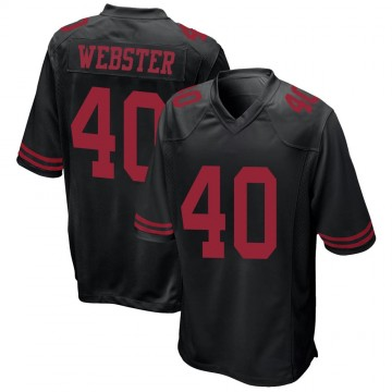 Youth Nike San Francisco 49ers Ken Webster Black Alternate Jersey - Game