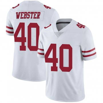 Youth Nike San Francisco 49ers Ken Webster White Vapor Untouchable Jersey - Limited