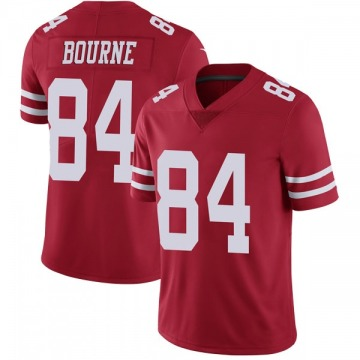 Youth Nike San Francisco 49ers Kendrick Bourne Red Team Color Vapor Untouchable Jersey - Limited
