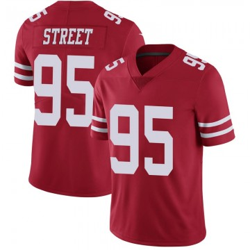 Youth Nike San Francisco 49ers Kentavius Street Scarlet 100th Vapor Jersey - Limited