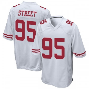 Youth Nike San Francisco 49ers Kentavius Street White Jersey - Game