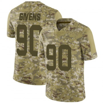 Youth Nike San Francisco 49ers Kevin Givens Camo 2018 Salute to Service Jersey - Limited