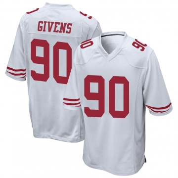 Youth Nike San Francisco 49ers Kevin Givens White Jersey - Game
