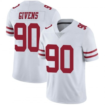 Youth Nike San Francisco 49ers Kevin Givens White Vapor Untouchable Jersey - Limited