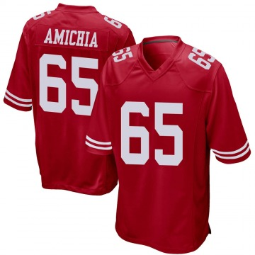 Youth Nike San Francisco 49ers Kofi Amichia Red Team Color Jersey - Game