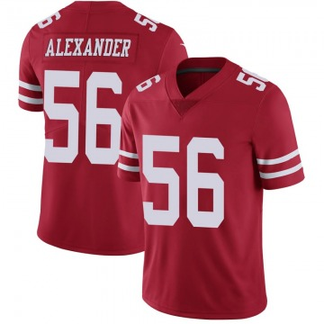 Youth Nike San Francisco 49ers Kwon Alexander Scarlet 100th Vapor Jersey - Limited