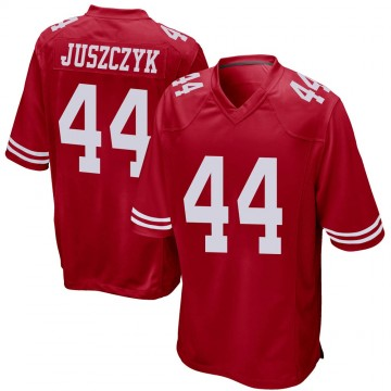 Youth Nike San Francisco 49ers Kyle Juszczyk Red Team Color Jersey - Game