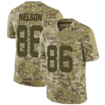 Youth Nike San Francisco 49ers Kyle Nelson Camo 2018 Salute to Service Jersey - Limited
