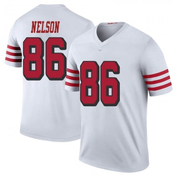 Youth Nike San Francisco 49ers Kyle Nelson White Color Rush Jersey - Legend