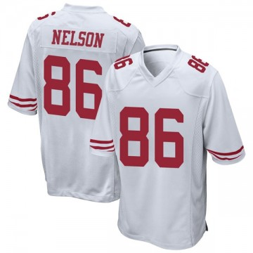 Youth Nike San Francisco 49ers Kyle Nelson White Jersey - Game
