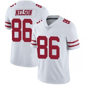 Youth Nike San Francisco 49ers Kyle Nelson White Vapor Untouchable Jersey - Limited
