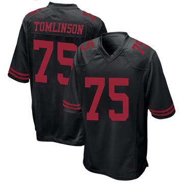Youth Nike San Francisco 49ers Laken Tomlinson Black Alternate Jersey - Game