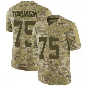 Youth Nike San Francisco 49ers Laken Tomlinson Camo 2018 Salute to Service Jersey - Limited