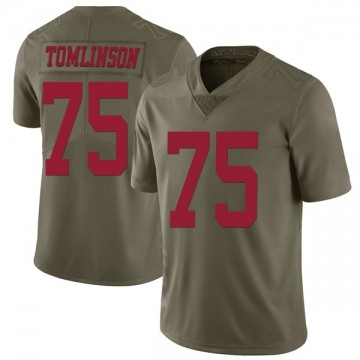 Youth Nike San Francisco 49ers Laken Tomlinson Green 2017 Salute to Service Jersey - Limited