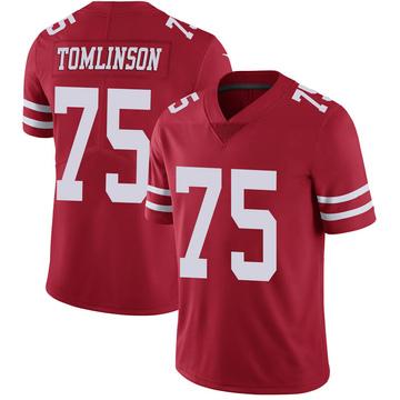 Youth Nike San Francisco 49ers Laken Tomlinson Scarlet 100th Vapor Jersey - Limited