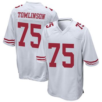 Youth Nike San Francisco 49ers Laken Tomlinson White Jersey - Game