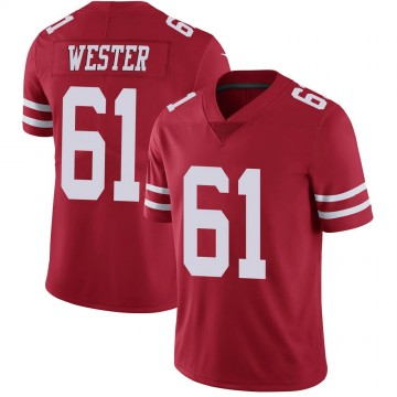Youth Nike San Francisco 49ers Leonard Wester Red Team Color Vapor Untouchable Jersey - Limited