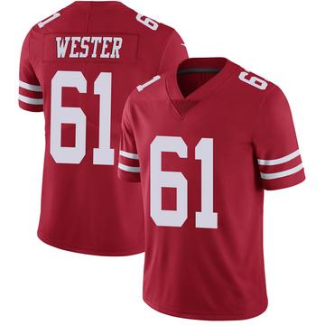 Youth Nike San Francisco 49ers Leonard Wester Scarlet 100th Vapor Jersey - Limited
