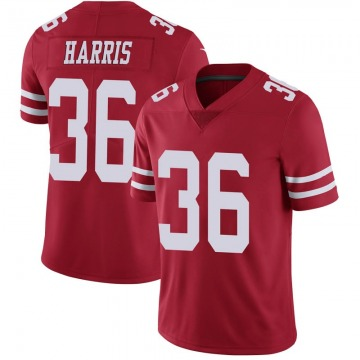 Youth Nike San Francisco 49ers Marcell Harris Scarlet 100th Vapor Jersey - Limited