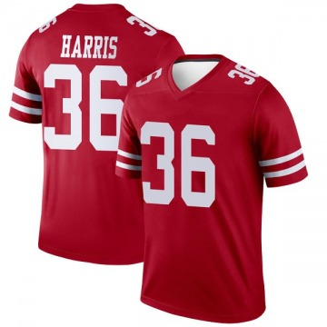 Youth Nike San Francisco 49ers Marcell Harris Scarlet Jersey - Legend
