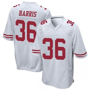Youth Nike San Francisco 49ers Marcell Harris White Jersey - Game