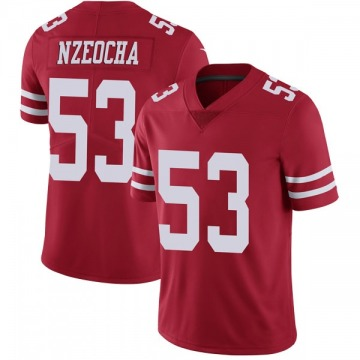 Youth Nike San Francisco 49ers Mark Nzeocha Red Team Color Vapor Untouchable Jersey - Limited