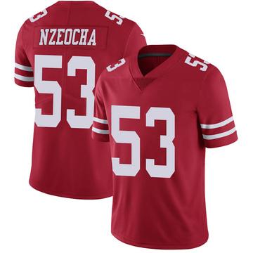 Youth Nike San Francisco 49ers Mark Nzeocha Scarlet 100th Vapor Jersey - Limited
