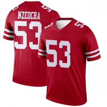 Youth Nike San Francisco 49ers Mark Nzeocha Scarlet Jersey - Legend