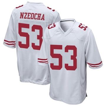Youth Nike San Francisco 49ers Mark Nzeocha White Jersey - Game