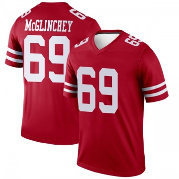 Youth Nike San Francisco 49ers Mike McGlinchey Scarlet Jersey - Legend
