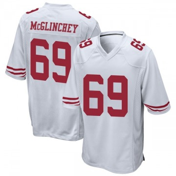 Youth Nike San Francisco 49ers Mike McGlinchey White Jersey - Game