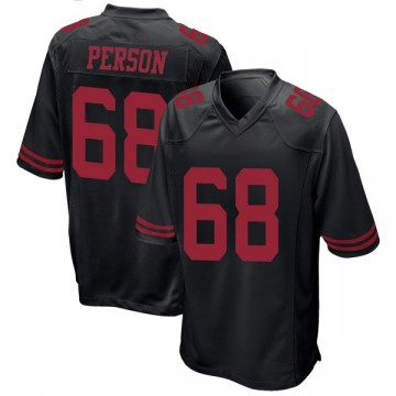 Youth Nike San Francisco 49ers Mike Person Black Alternate Jersey - Game