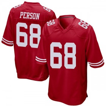 Youth Nike San Francisco 49ers Mike Person Red Team Color Jersey - Game