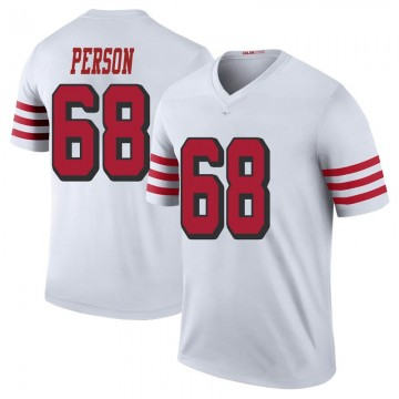 Youth Nike San Francisco 49ers Mike Person White Color Rush Jersey - Legend