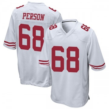 Youth Nike San Francisco 49ers Mike Person White Jersey - Game