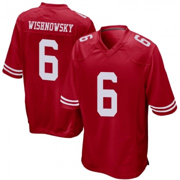 Youth Nike San Francisco 49ers Mitch Wishnowsky Red Team Color Jersey - Game