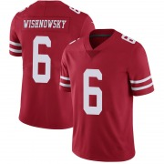Youth Nike San Francisco 49ers Mitch Wishnowsky Scarlet 100th Vapor Jersey - Limited