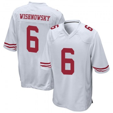 Youth Nike San Francisco 49ers Mitch Wishnowsky White Jersey - Game