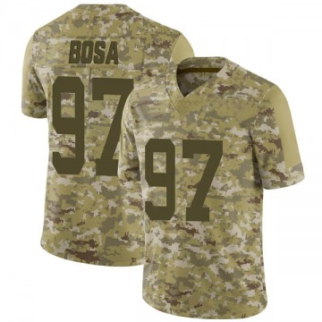 Youth Nike San Francisco 49ers Nick Bosa Camo 2018 Salute to Service Jersey - Limited